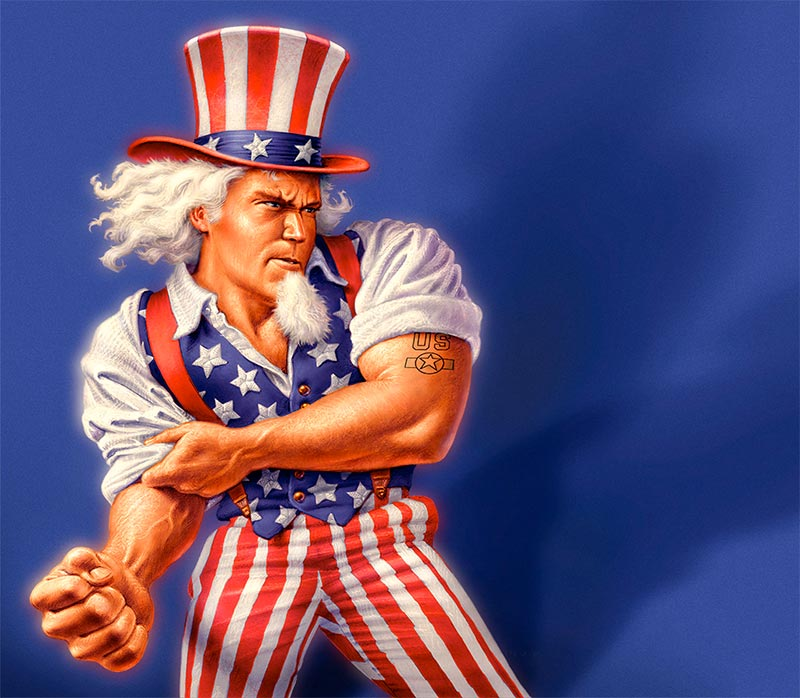 Uncle Sam on steroids