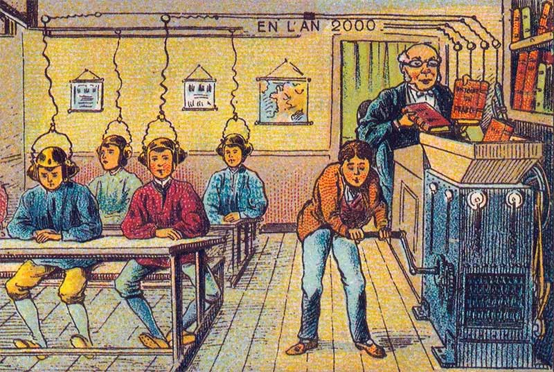 At School (in the year 2000) by Jean Marc Côté