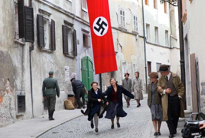 Scene from the shooting of Anthropoid (2016)