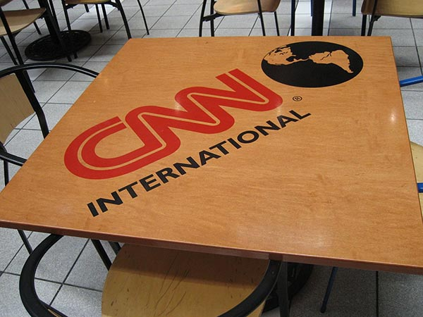 The CNN International logo on a table viewed inside the CNN Center in Atlanta. These tables have since been removed. (image: Wikipedia)