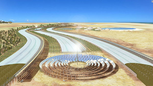 Sahara Forest Project concept art, rapidly becoming reality