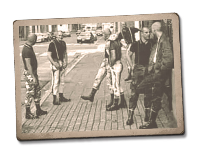 Skinheads in Prague 1999
